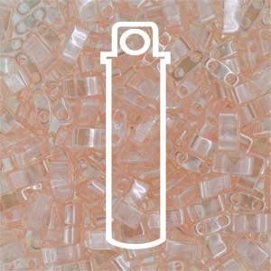 Miyuki Half Tila Bead 1/2 Cut 5mm Lustre Light Rose