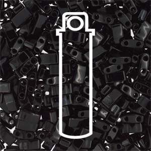 Miyuki Half Tila Bead 1/2 Cut 5mm Opaque Black