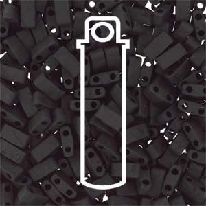 Miyuki Half Tila Bead 1/2 Cut 5mm Opaque Matte Black