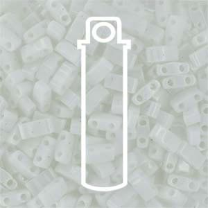 Miyuki Half Tila Bead 1/2 Cut 5mm Opaque White