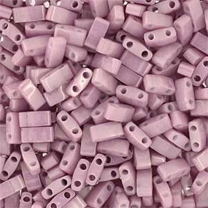 Miyuki Half Tila Bead 1/2 Cut 5mm Lustre Opaque Antique Rose
