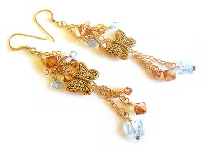 Butterflies 'n Chains Earrings Tutorial ~ Heather